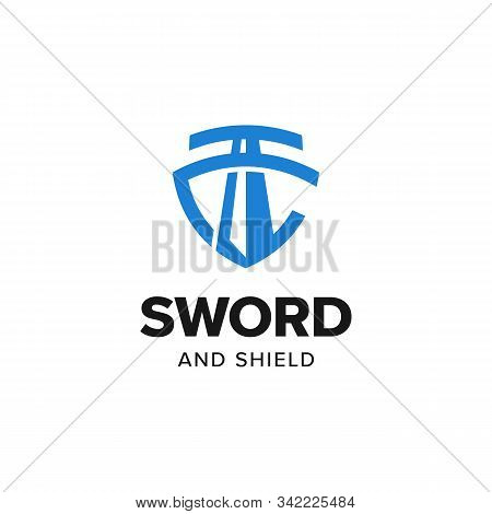 Sword Shield Justice Logo Iconic. Branding For Universal Legal, Advocate, Lawyer, Scales, Law Firm,
