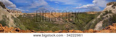 Canyon On The Slopes Of Plateau Ustyurt
