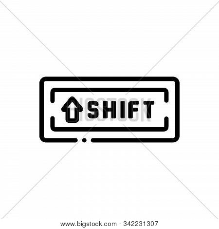 Black Line Icon For Shiftkey Butten Shift Key Software