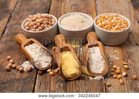 assortment of gluten free flour