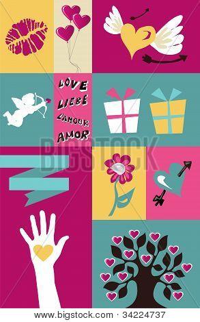 Valentines Set Background