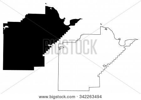 Yell County, Arkansas (u.s. County, United States Of America,usa, U.s., Us) Map Vector Illustration,