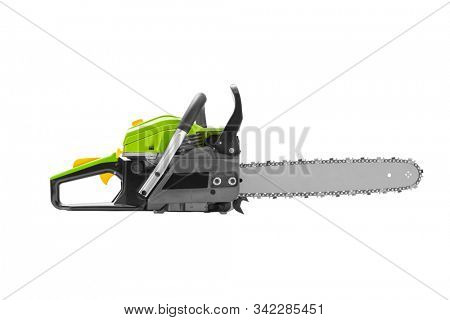 Chainsaw isolated on white, including clipping path