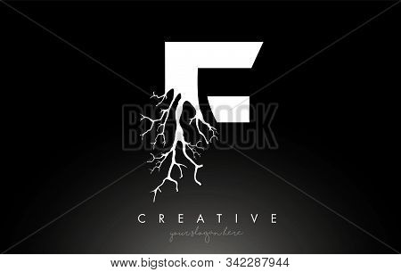 Letter F Design Logo With Creative Tree Branch. F Letter Tree Icon Logo  Vector Illustration.