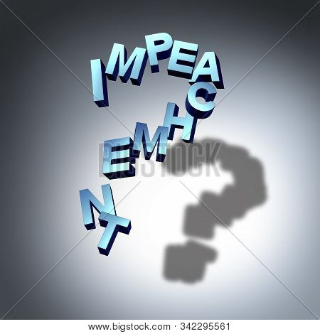 Impeachment Questions And Impass To Imeach As A Question Mark Representing Government Law Uncertaint