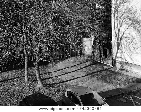Chomutov, Czech Republic - December 29, 2019: Sunny Weather Between Houses On 30Th Anniversary Of Va