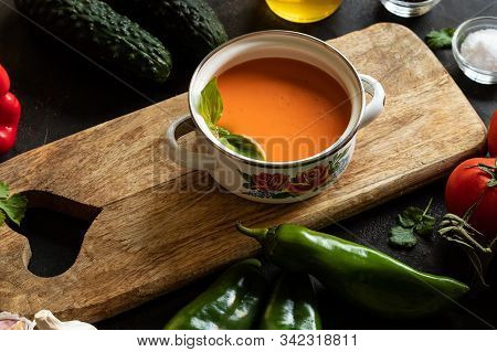 Andalusian Gazpacho Refreshing Tomato And Other Vegetables
