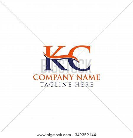 Initial Kc Letter Logo Design Vector Template. Abstract Letter Kc Logo Design