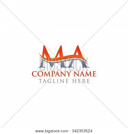 Initial Ma Letter Logo Design Vector Template. Abstract Letter Ma Logo Design