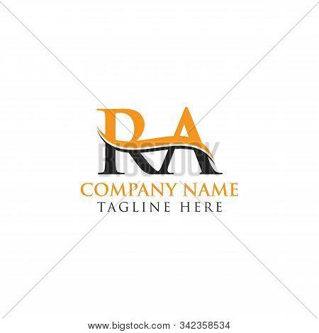 Swoosh Letter Ra Logo Design Vector Template. Ra Letter Logo Design.