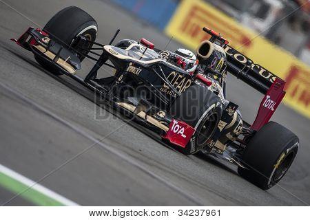 VALENCIA, SPAIN - JUNE 22: Kimi Raikkonen in the Formula 1 Grand Prix of Europe, Valencia Street Circuit. Spain on June 22, 2012
