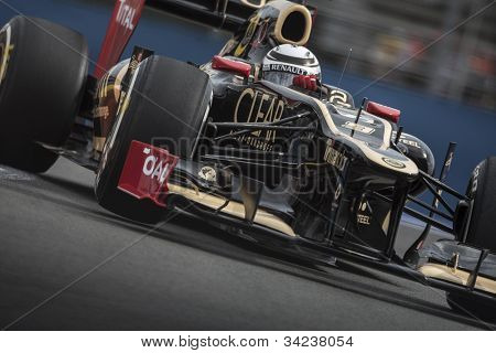 VALENCIA, SPAIN - JUNE 22: Kimi Raikkonen in the Formula 1 Grand Prix of Europe, in Valencia Street Circuit, Spain on June 22, 2012