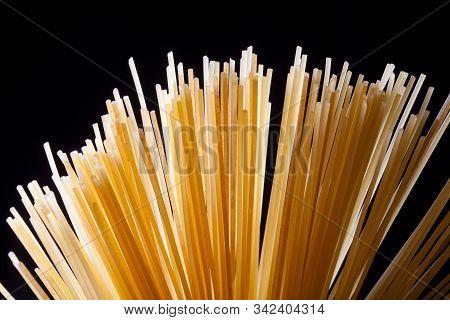 Italian Spaghetti Stacked In Creative Way