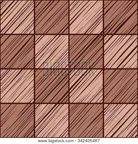 Square Tiles, Background Seamless Pink-gray, Vector. The Shaded Squares On The Diagonal Pink-brown C