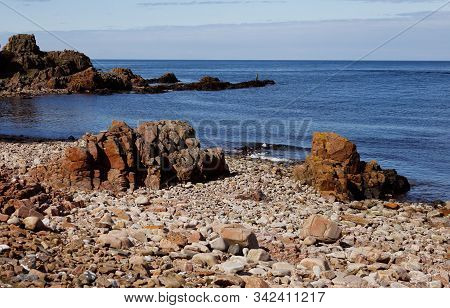 Rocks At The Hovs Hallar Area In The Swedish Province Of Scania.