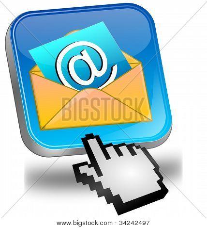 Электронной почты кнопку с курсором