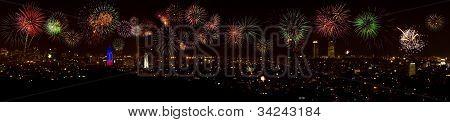 Fireworks Over Barcelona