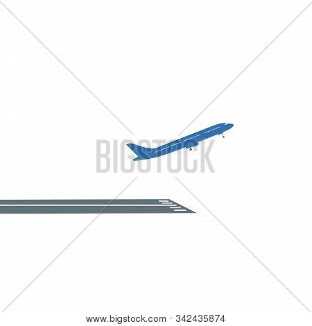 Airline Airplane Or Jetliner Flight Take Off Flat Vector Icon For Apps And Websites