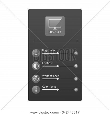Shiny Transparent Ui Monitor Graphic Display Setting Design Illustration. Monitor Ui Graphic Display