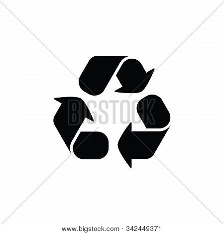 Recycle Sign Icon. Arrow Icon Vector. Recycling Sign. Recycle Symbol Graphic Design. Illustration Of