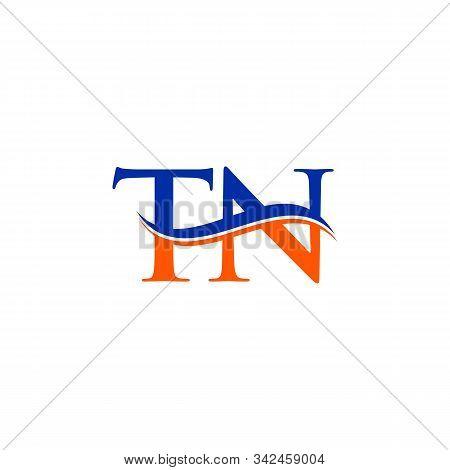 Swoosh Letter Tn Logo Design Vector Template. Tn Letter Logo Design