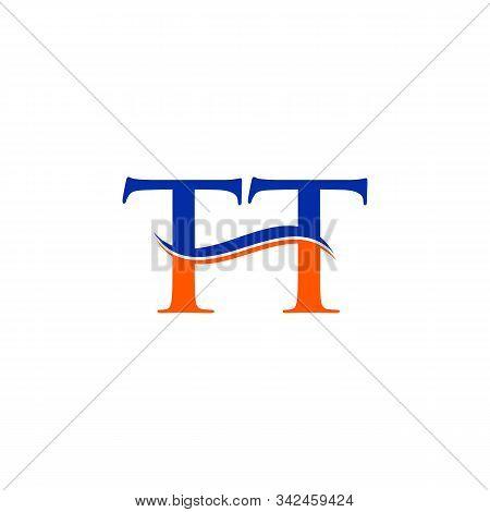 Swoosh Letter Tt Logo Design Vector Template. Tt Letter Logo Design