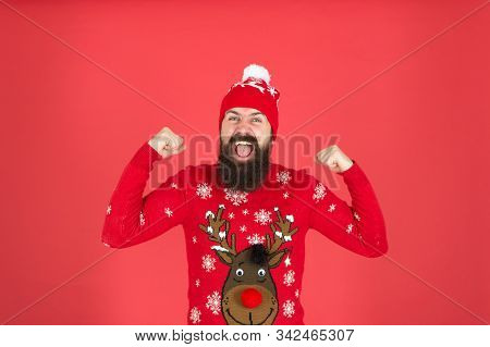 I Am Winner. Join Holiday Party Craze And Host Ugly Christmas Sweater Party. Buy Festive Clothing. S