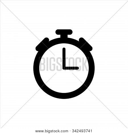 Clock Icon Isolated. Watch Object. Time Office Symbol. Clock Flat Icon. Time Logo. Watch Logo. Clock
