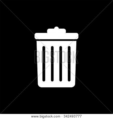 Trash Icon Isolated On Black Background From Photography Collection. Trash Icon Trendy And Modern Tr