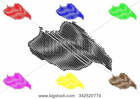 Artigas Department (departments Of Uruguay, Oriental Republic Of Uruguay) Map Vector Illustration, S