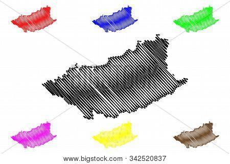 Durazno Department (departments Of Uruguay, Oriental Republic Of Uruguay) Map Vector Illustration, S