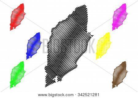 Rocha Department (departments Of Uruguay, Oriental Republic Of Uruguay) Map Vector Illustration, Scr