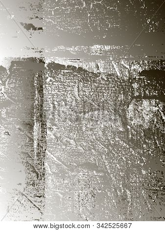 Distressed Overlay Metallic Silver Chromium Plated Texture. Grunge Background. Abstract Vector Illus
