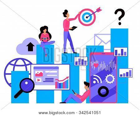 Smm Flat Vector Illustration. Social Media Marketing Service. Strategy Planning. E-marketing Company