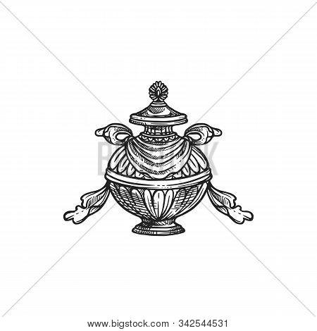 Buddhism Religious Symbol, Bumpa Vase. Buddhist Worship, Hinduism Dharma Religion Ritual Pumpa Vecto