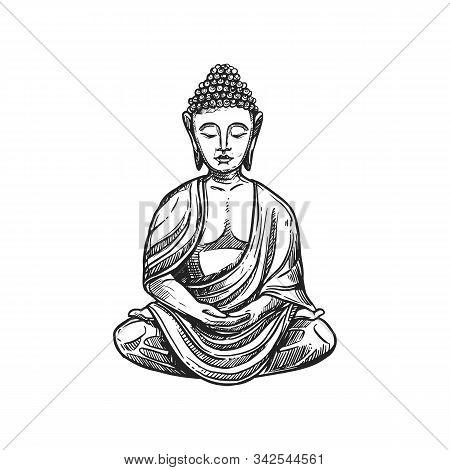 Buddhism Religious Symbol, Buddha Meditation. Buddhist Hinduism Dharma Religion, Buddha Lotus Vector