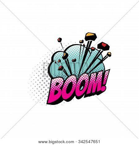 Comic Sound Blast, Bubble Chat Cartoon Icon. Vector Boom Sound Blast, Explosion Cloud, Superhero Com
