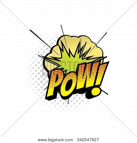 Comic Book Sound Blast, Wow Bubble Cartoon Halftone Icon. Vector Wow Sound Blast Explosion, Pop Art