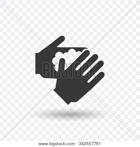 Wash Your Hand Sign. Stock Vector Illustration Isolated On White Background.