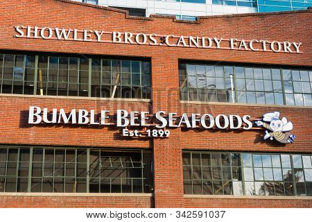 San Diego, California/usa - January 8, 2017:  The Showley Bros. Candy Factory Building, Erected In 1