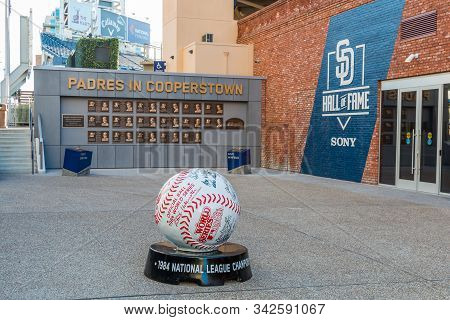 San Diego, California/usa - January 8, 2017:  The Padres Hall Of Fame Plaza At Petco Park, Which Ope