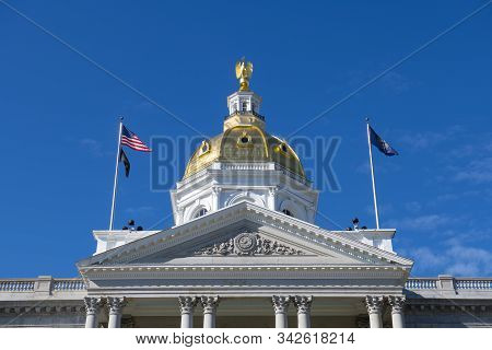 New Hampshire State House, Concord, New Hampshire Nh, Usa. New Hampshire State House Is The Nation`s