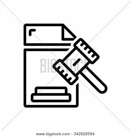 Black Line Icon For Legal Legitimate Lawful Juristic Juridical Licit Statutory