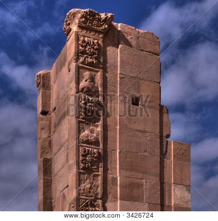 Pillar Ruin On Sky