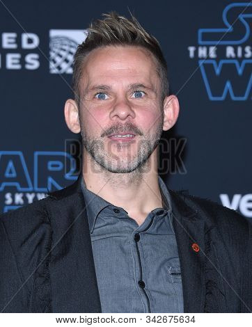 LOS ANGELES - DEC 16:  Dominic Monaghan arrives for the ÔStar Wars: The Rise of SkywalkerÕ Premiere on December 16, 2019 in Hollywood, CA
