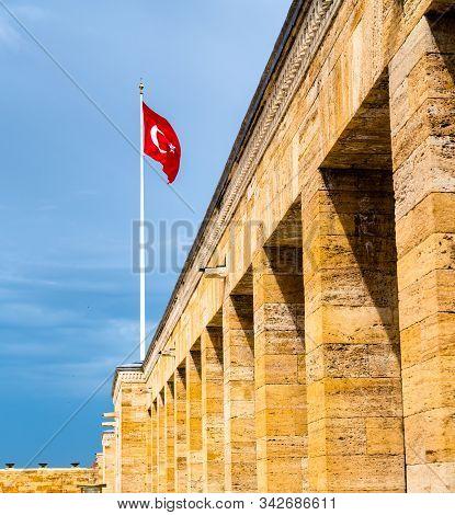 Details Of Anitkabir, The Mausoleum Of Mustafa Kemal Ataturk In Ankara, Turkey