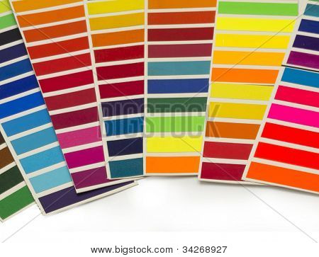 sample colors creating rainbow poster