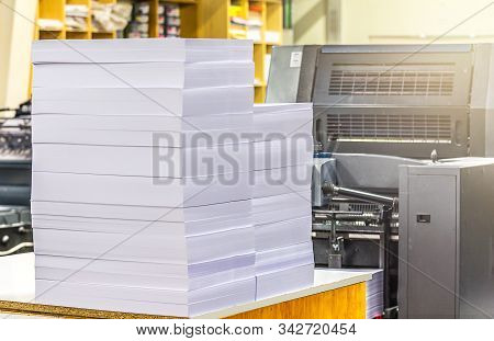 Input Of Paper In An Offset Printing Machine