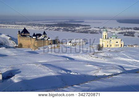 Beautiful Winter View To Khotyn Fortress