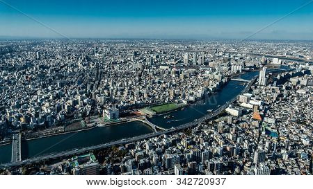 Bird's Eye View Of Tokyo, Japan